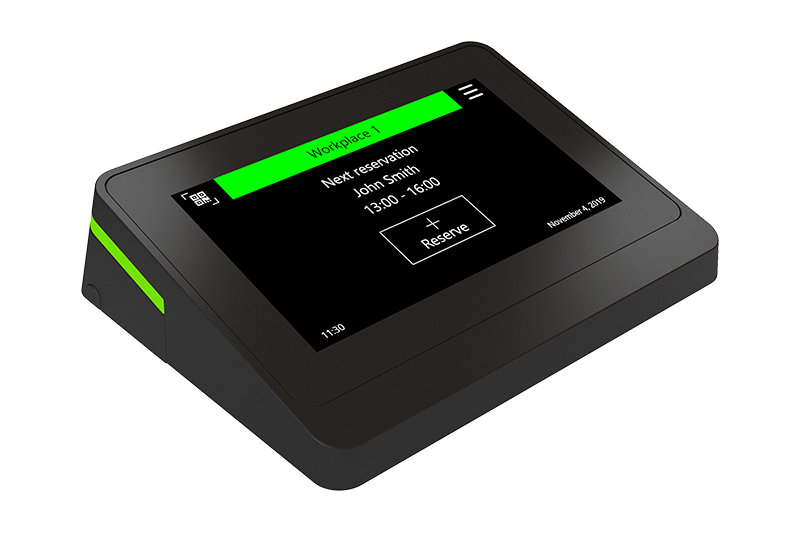 """4.3"""" touch-screen workplace reservation interface touchONE-4"""